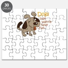 dogs just wanna have fun Puzzle