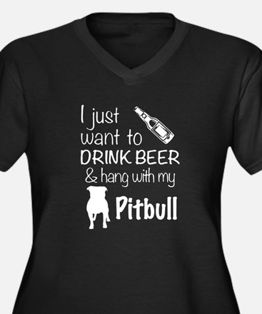 Beer And Pit Bull T Shirt Plus Size T-Shirt