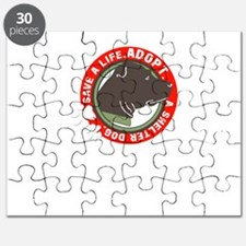 save a life adopt a shelter dog Puzzle