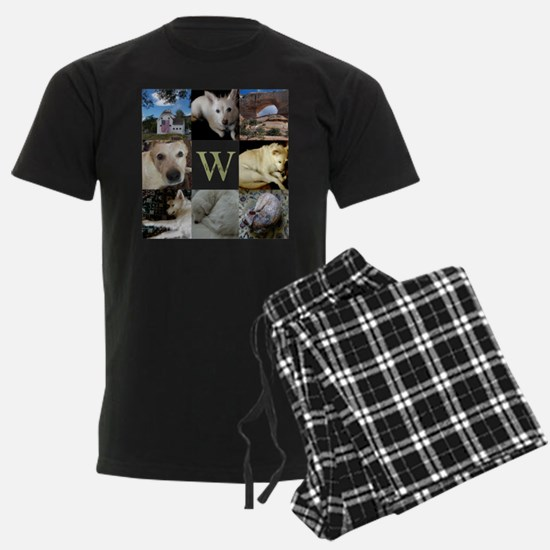 Photo Block with Monogram and Name Pajamas