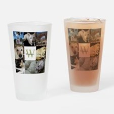 Photo Block with Monogram and Name Drinking Glass