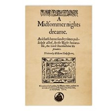 Midsummer Nights Dream Postcards (Package of 8)