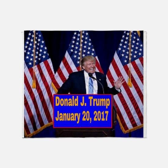 Trump Inauguration Throw Blanket