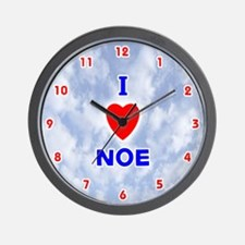 I Love Noe (Red/Bl) Valentine Wall Clock