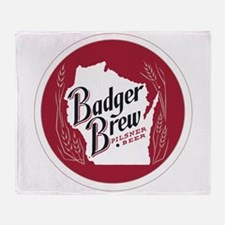 Badger Brew Round Logo Throw Blanket