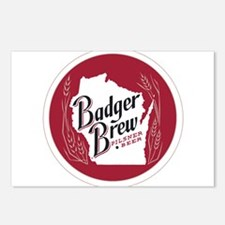 Badger Brew Round Logo Postcards (Package of 8)
