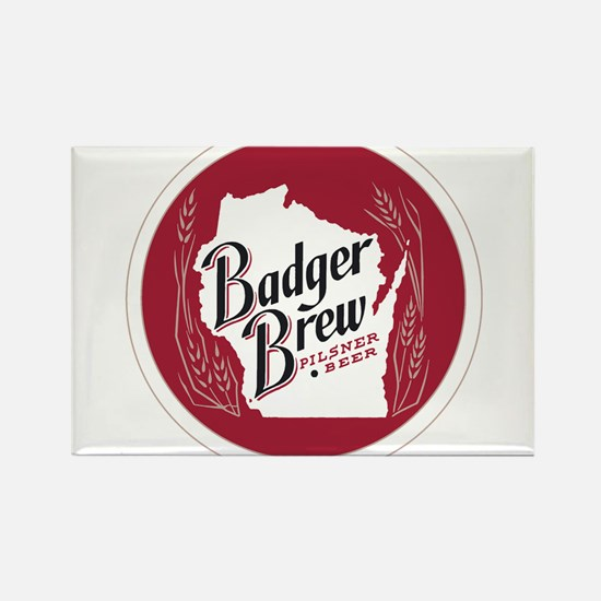 Badger Brew Round Logo Magnets