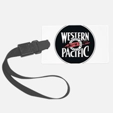 Western Pacific Railroad Feather Luggage Tag