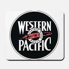 Western Pacific Railroad Feather Route 2 Mousepad