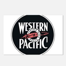 Western Pacific Railroad Postcards (Package of 8)