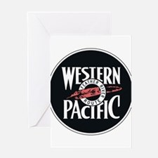 Western Pacific Railroad Feather Ro Greeting Cards