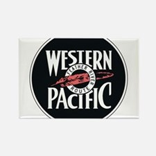 Western Pacific Railroad Feather Route 2 Magnets