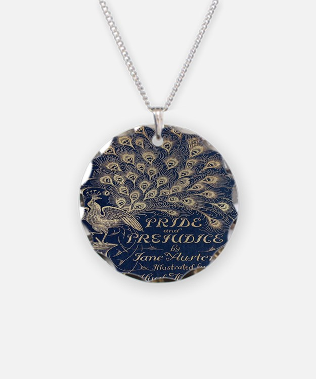 Pride and Prejudice, Peacock; Vintage Art Necklace
