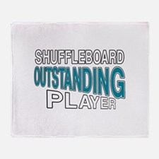 Shuffleboard Outstanding Player Throw Blanket