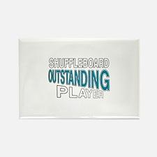 Shuffleboard Outstanding Player Rectangle Magnet