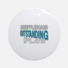 Shuffleboard Outstanding Player Round Ornament