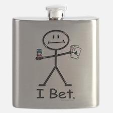 Gambling blackjack stickfigure Flask