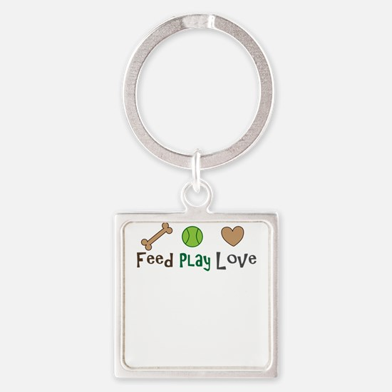 feed play love Keychains