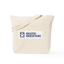 MINIATURE SIBERIAN HUSKY Tote Bag