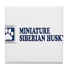 MINIATURE SIBERIAN HUSKY Tile Coaster