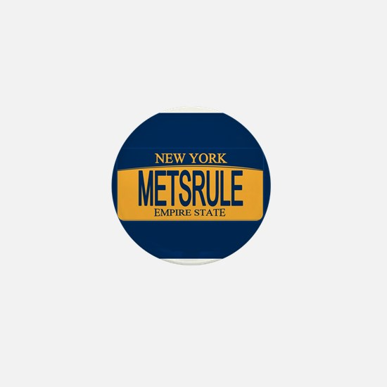 METSRULE License Plate Mini Button