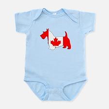 "Scottish Terrier ""Canadian Flag"" Body Suit"