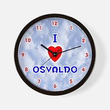 I Love Osvaldo (Red/Bl) Valentine Wall Clock