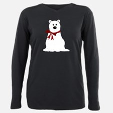 Cute Polar Bear with Red Bow T-Shirt