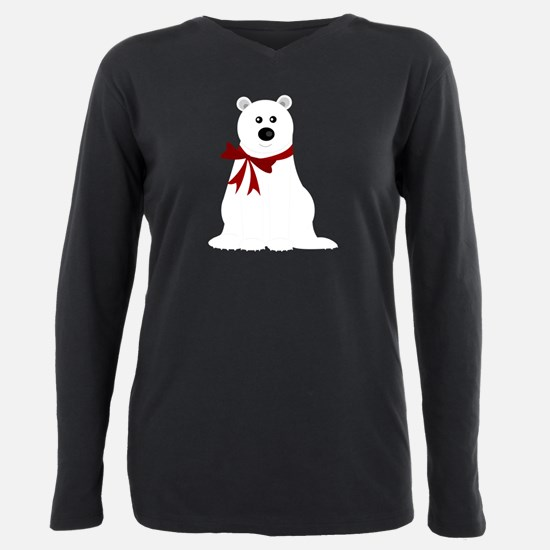 Cute Polar Bear with Red Bow T-Shirt