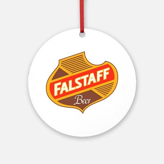 Falstaff beer design Round Ornament