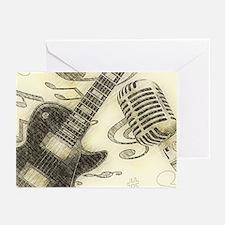 Vintage Guitar Greeting Cards