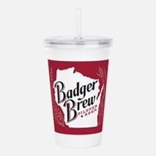 Badger Brew Beer Label Acrylic Double-wall Tumbler