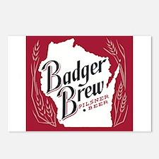 Badger Brew Beer Label Postcards (Package of 8)
