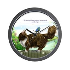 Wonderful Fly high cat Wall Clock