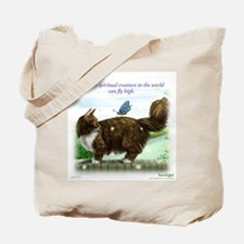 Shopping with the fly high cat Tote Bag
