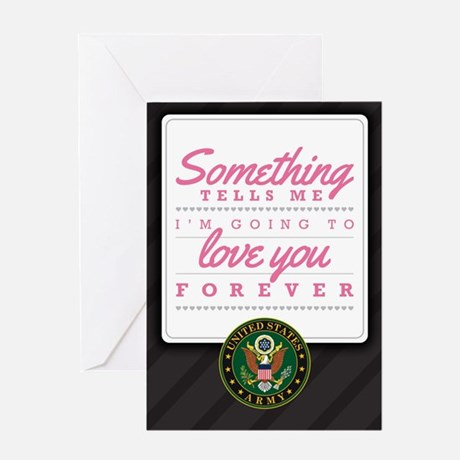 Army Love You Forver Greeting Card