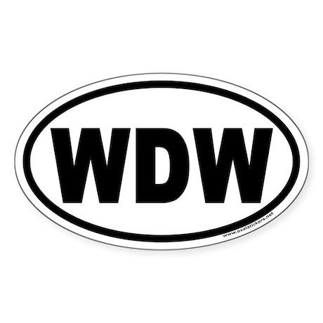 WDW Euro Style Oval Sticker
