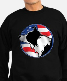 Border Collie B&W Flag Jumper Sweater