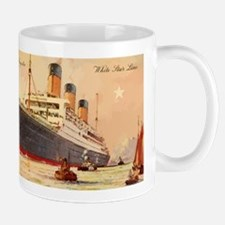 Majestic steamship historic postcard Mugs