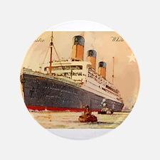 Majestic steamship historic postcard Button