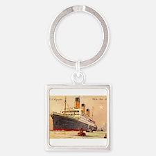 Majestic steamship historic postcard Keychains