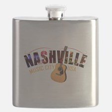 Nashville Music City USA Flask