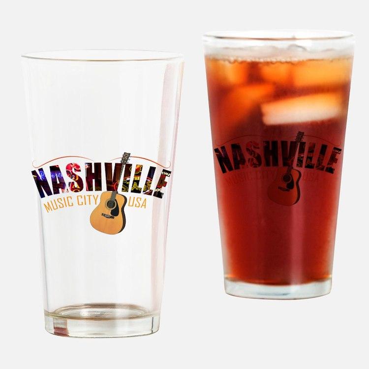 Nashville Music City USA Drinking Glass