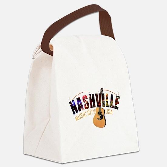 Nashville TN Music City USA Canvas Lunch Bag