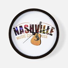Nashville TN Music City USA Wall Clock