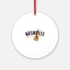 Nashville TN Music City USA Round Ornament