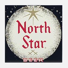 North Star Beer Logo 2 Tile Coaster