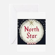North Star Beer Logo 2 Greeting Cards