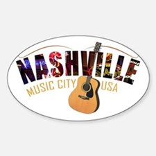 Nashville TN Music City USA Decal