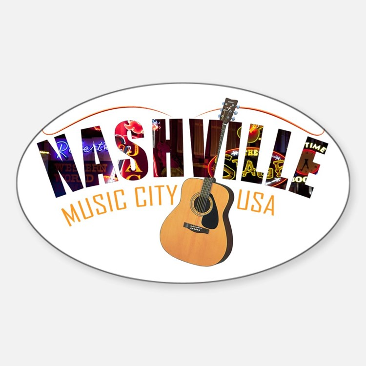 Nashville TN Music City USA Decal